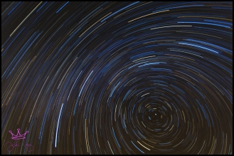 Star Trail from Arches National Park