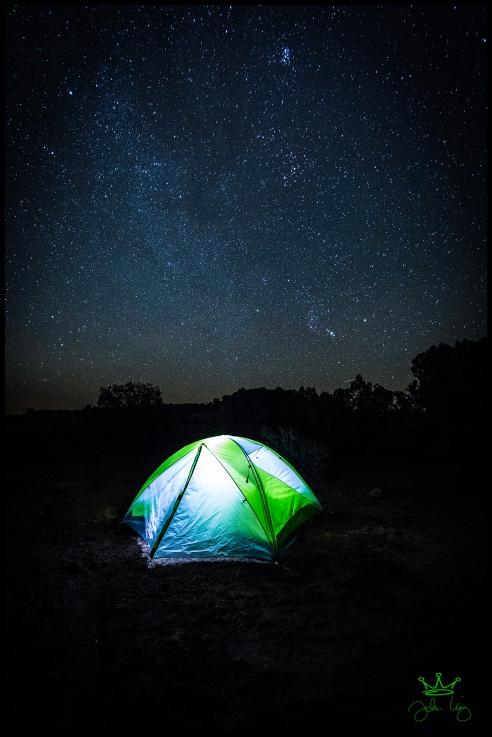 My campsite on Hunts Mesa