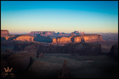 Morning Light Monument Valley from Hunts Mesa