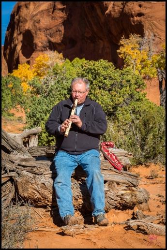 Me playing Navajo Flute at a 150 year old Hogan